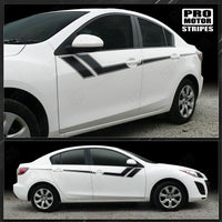 Mazda 3 2009-2013 Thunderbolt Hash Accent Side Stripes