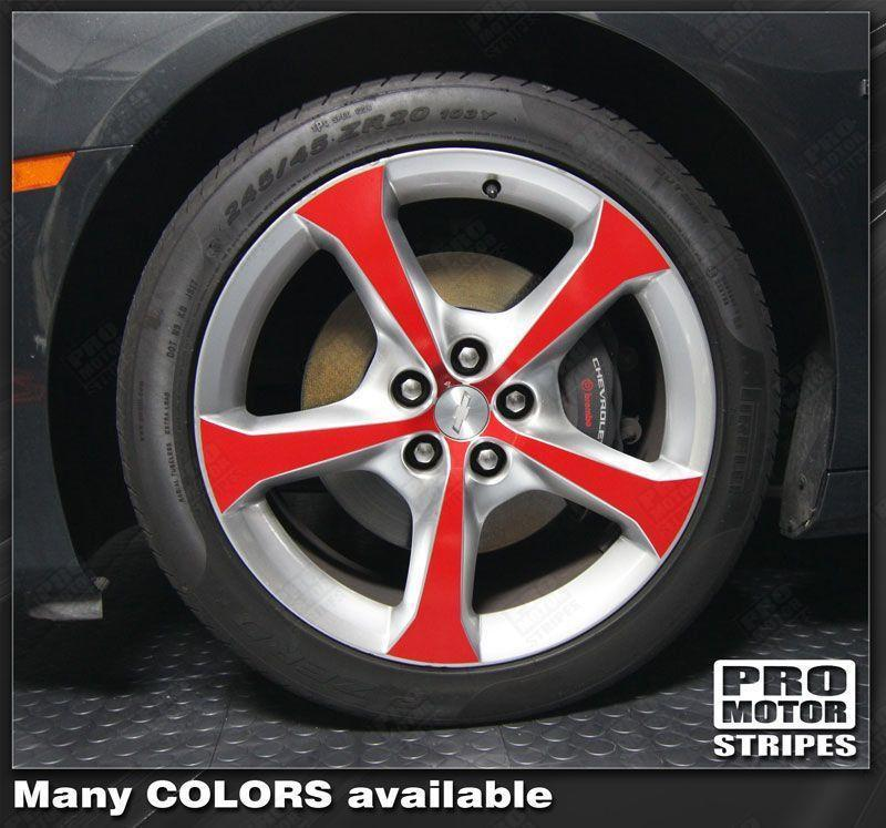 "Chevrolet Camaro 2010-2015 - 20"" Wheels Insert Overlay Stripes Auto Decals - Pro Motor Stripes"
