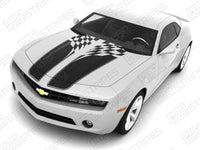 Chevrolet Camaro 2010-2015 Checkered Flag Racing Stripes Auto Decals - Pro Motor Stripes