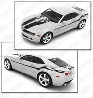 Chevrolet Camaro 2010-2015 Checkered Flag Stripes Complete Set Auto Decals - Pro Motor Stripes