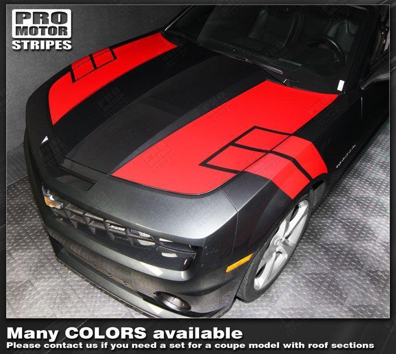 2010 2011 2012 2013 2014 2015 Chevrolet Camaro hood  trunk Decals Stripes 122551585371-1