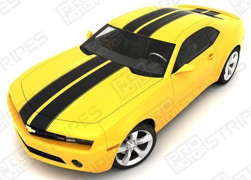 Chevrolet Camaro 2010-2015 Double Rally Racing Stripes Set Auto Decals - Pro Motor Stripes