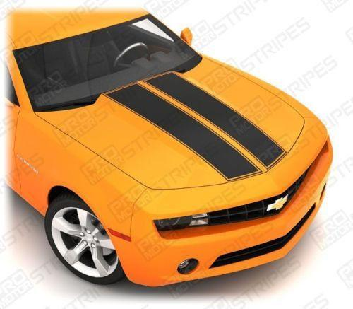 Chevrolet Camaro 2010-2015 Hood Cowl & Trunk Dual Stripes Auto Decals - Pro Motor Stripes