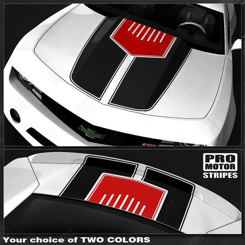 2010 2011 2012 2013 2014 2015 Chevrolet Camaro hood  trunk Decals Stripes 152588450888-1