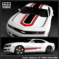 Chevrolet Camaro 2010-2015 Hot Wheels Style Top and Side Stripes Auto Decals - Pro Motor Stripes