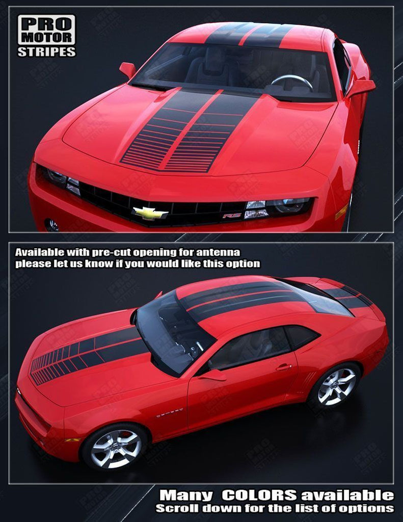 2010 2011 2012 2013 2014 2015 Chevrolet Camaro hood  trunk  roof Decals Stripes 152588450860-2