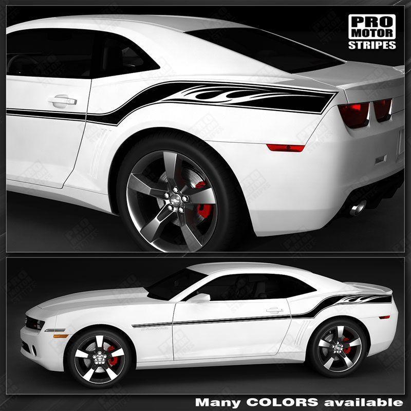 Chevrolet Camaro 2010-2015 Racing Wings Sport Stripes Auto Decals - Pro Motor Stripes