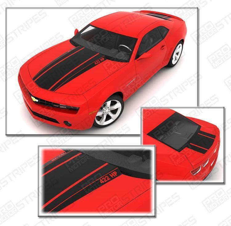 Chevrolet Camaro 2010-2015 Rally Racing Stripes Hood & Trunk Auto Decals - Pro Motor Stripes