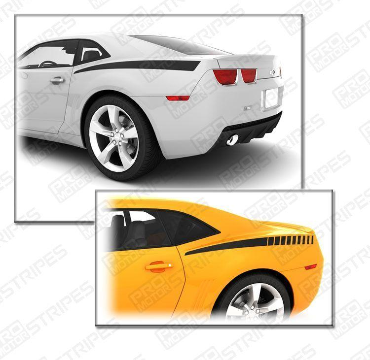Chevrolet Camaro 2010-2015 Rear Quarter Side Accent Stripes Auto Decals - Pro Motor Stripes