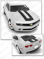 Chevrolet Camaro 2010-2015 SEMA Style Stripes Hood & Trunk Decals Auto Decals - Pro Motor Stripes