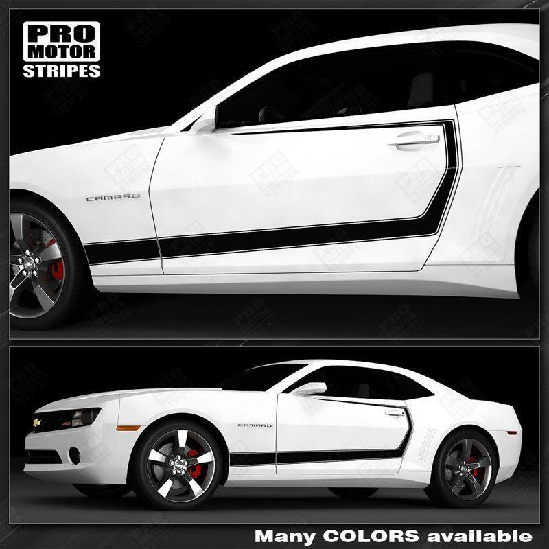2010 2011 2012 2013 2014 2015 Chevrolet Camaro side  door Decals Stripes 132229426713-1