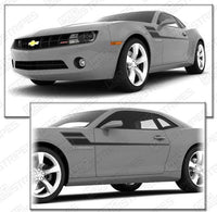 Chevrolet Camaro 2010-2015 Speed Side Accent Stripes Auto Decals - Pro Motor Stripes