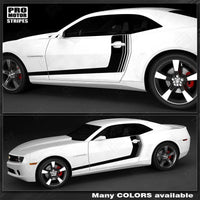 Chevrolet Camaro 2010-2015 Strobe Accent Side Stripes Auto Decals - Pro Motor Stripes