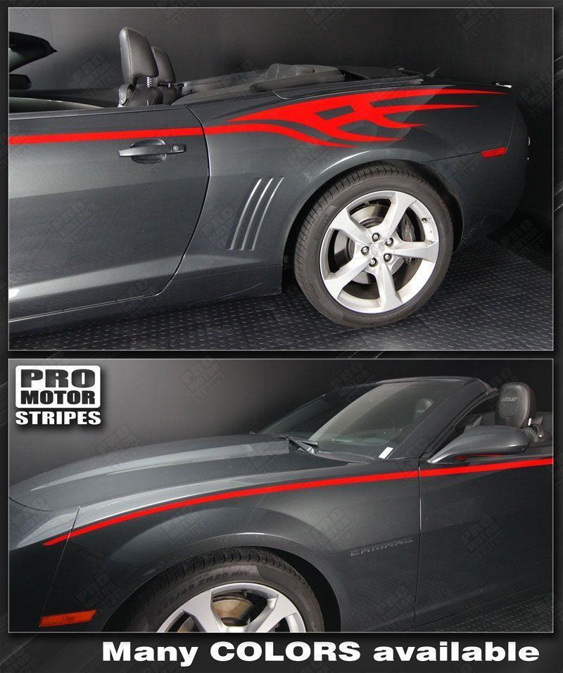 2010 2011 2012 2013 2014 2015 Chevrolet Camaro side  door Decals Stripes 152588451839-1