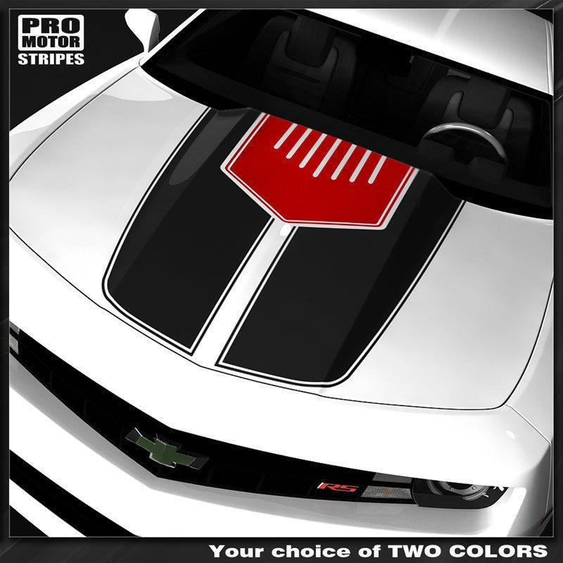 Chevrolet Camaro 2010-2015 Two Tone Hood Accent Stripes Auto Decals - Pro Motor Stripes