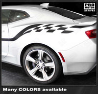 Chevrolet Camaro 2010-2019 Checkered Style Side Stripes