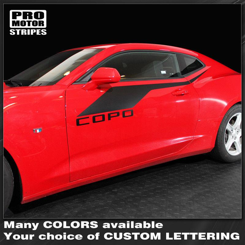 Chevrolet Camaro 2016-2018 COPO Style Side Accent Stripes Auto Decals - Pro Motor Stripes