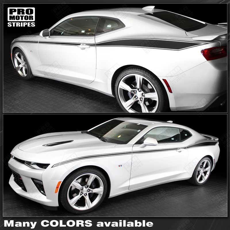 2016 2017 2018 2019 Chevrolet Camaro side  door Decals Stripes 132416724384-1
