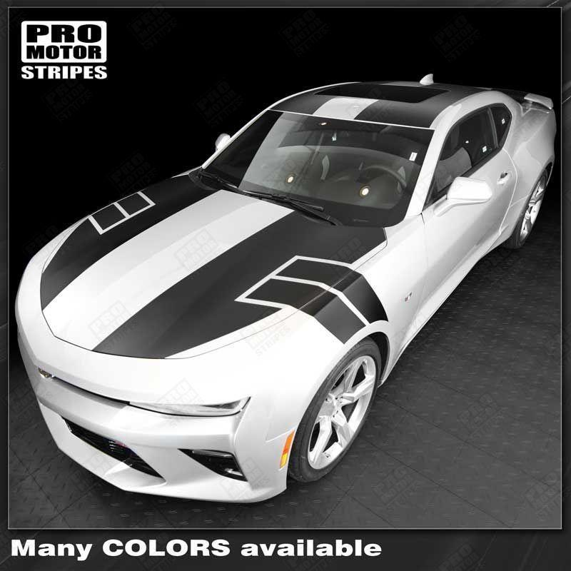 Chevrolet Camaro 2016-2018 NS1 Style Top Stripes Complete Set Auto Decals - Pro Motor Stripes