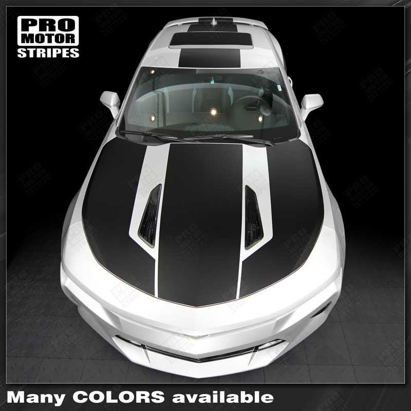 Chevrolet Camaro 2016-2018 Over The Top Stripes Hood, Roof & Rear Auto Decals - Pro Motor Stripes
