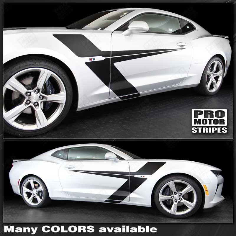 Chevrolet Camaro 2016-2018 Side Accent Sport Stripes Auto Decals - Pro Motor Stripes