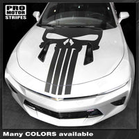 Chevrolet Camaro 2016-2018 -SS- Punisher Style Skull Hood Decal