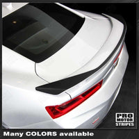 Chevrolet Camaro 2016-2018 -SS- Raised Spoiler Accent Decal Auto Decals - Pro Motor Stripes