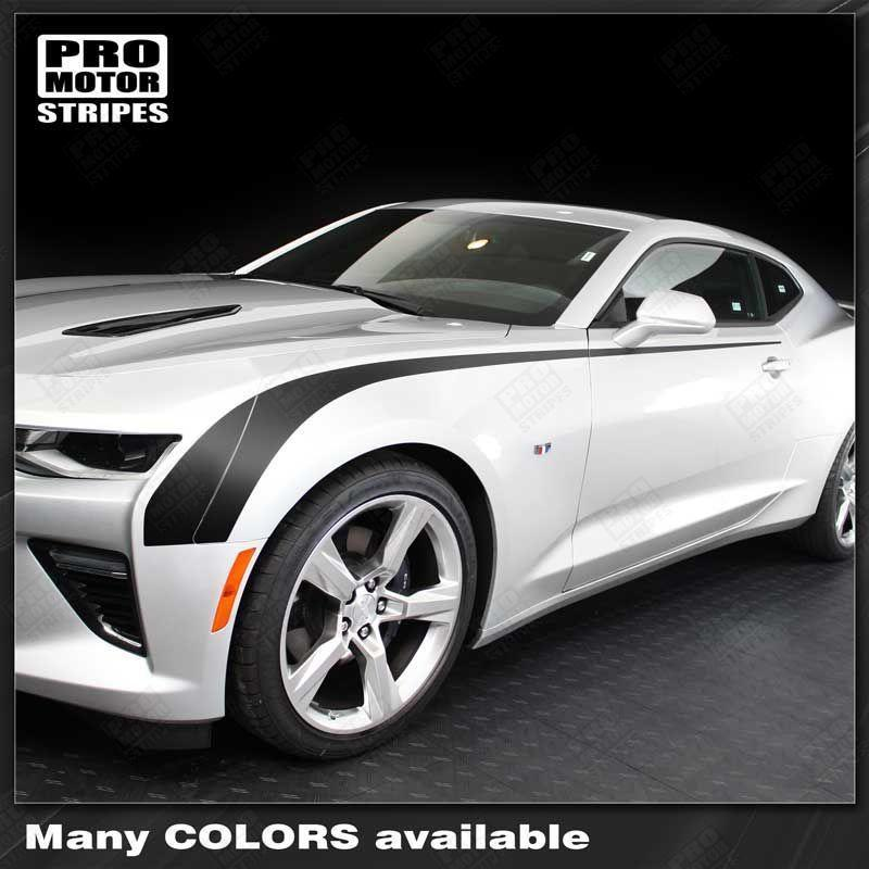 2016 2017 2018 2019 Chevrolet Camaro side  door Decals Stripes 122819733419-1
