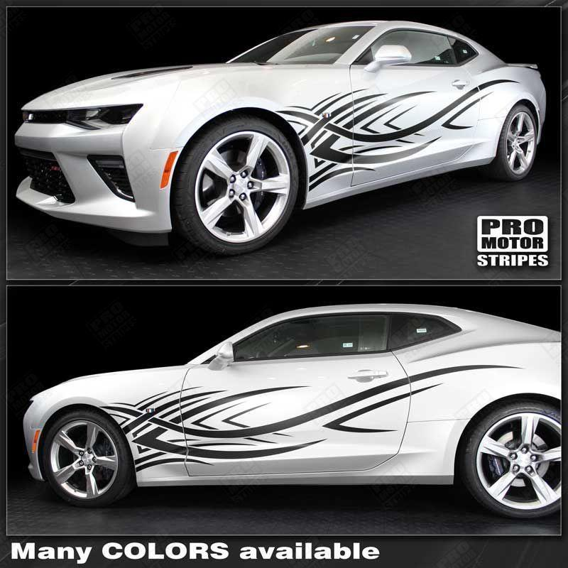 2010 2011 2012 2013 2014 2015 2016 2017 2018 2019 Chevrolet Camaro side  door Decals Stripes 152797237126-1