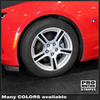 "Chevrolet Camaro 2016-2021 Wheel Spokes Decals For 18"" Stock Rims"