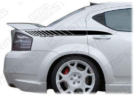 2008 2009 2010 2011 2012 2013 2014 Dodge Avenger side Decals Stripes 152620483434-1