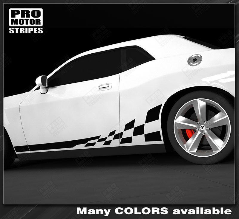 2008 2009 2010 2011 2012 2013 2014 2015 2016 2017 2018 2019 Dodge Challenger side  door  rocker panel Decals Stripes 132234764116-1
