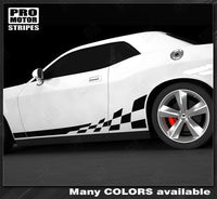 Dodge Challenger 2008-2019 Checkered Rocker Side Stripes