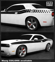 Dodge Challenger 2008-2018 Double Side & Strobe Stripes Auto Decals - Pro Motor Stripes