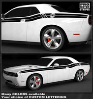 Dodge Challenger 2008-2018 Double Stripes with Lettering Decals Auto Decals - Pro Motor Stripes