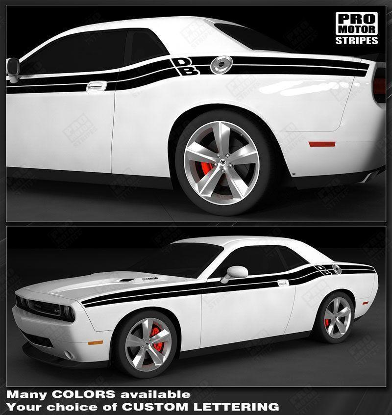 Choose Color Dodge Challenger 2008-2019 Top Double Stripes Decals Pinstriping