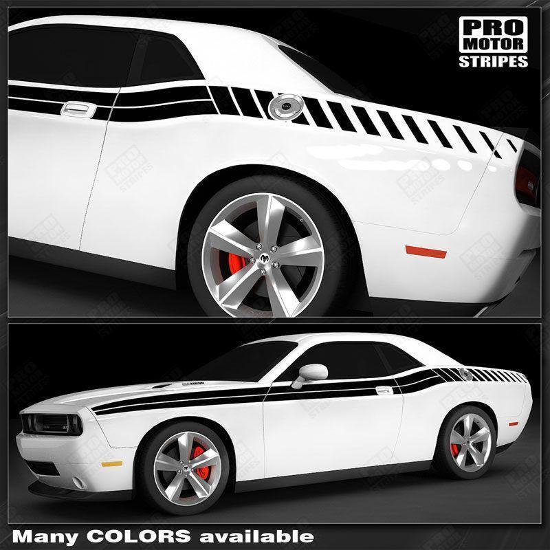 2008 2009 2010 2011 2012 2013 2014 2015 2016 2017 2018 2019 Dodge Challenger side  door Decals Stripes 132229426700-1