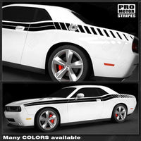 Dodge Challenger 2008-2019 Double Stripes with Strobe Side Decals