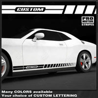 2008 2009 2010 2011 2012 2013 2014 2015 2016 2017 2018 2019 Dodge Challenger side  door  rocker panel Decals Stripes 152588456640-1