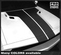 Dodge Challenger 2008-2018 Factory Style Hood Stripes Auto Decals - Pro Motor Stripes