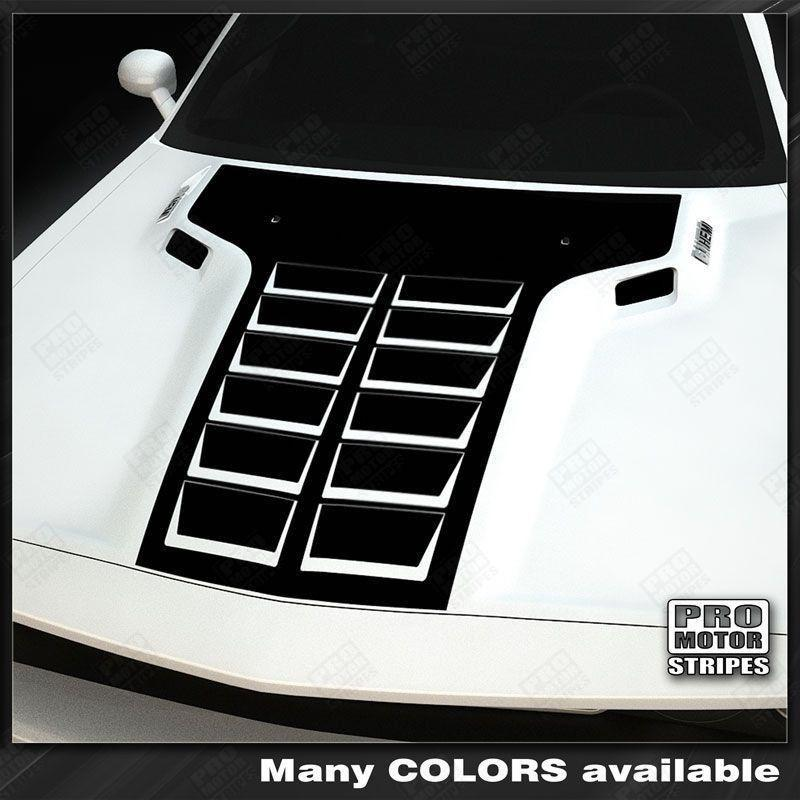 Dodge Challenger 2008-2018 Hood 12-Pack Style T-Stripes Auto Decals - Pro Motor Stripes