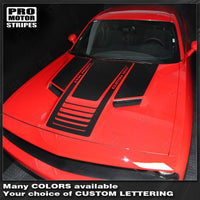 Dodge Challenger 2008-2018 Hood Stripes w/ Optional Text Auto Decals - Pro Motor Stripes