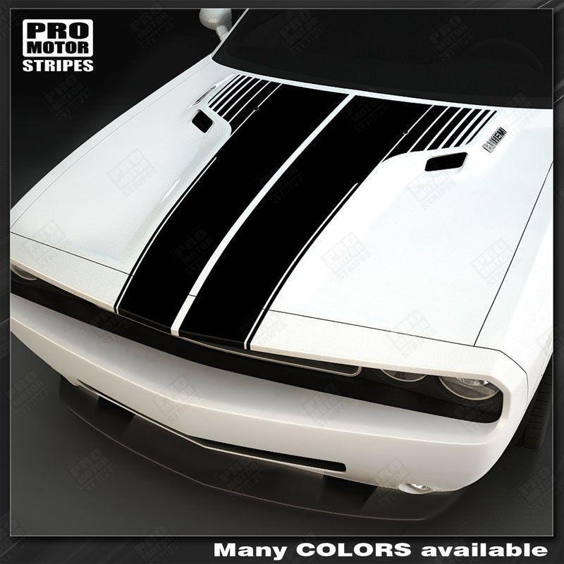 2008 2009 2010 2011 2012 2013 2014 2015 2016 2017 2018 2019 Dodge Challenger hood Decals Stripes 132229427725-1