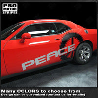 2008 2009 2010 2011 2012 2013 2014 2015 2016 2017 2018 2019 Dodge Challenger side  door Decals Stripes 132229419804-2