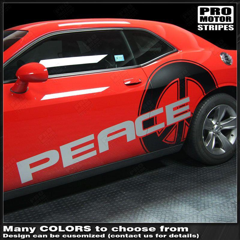 2008 2009 2010 2011 2012 2013 2014 2015 2016 2017 2018 2019 Dodge Challenger side  door Decals Stripes 132229419804-1