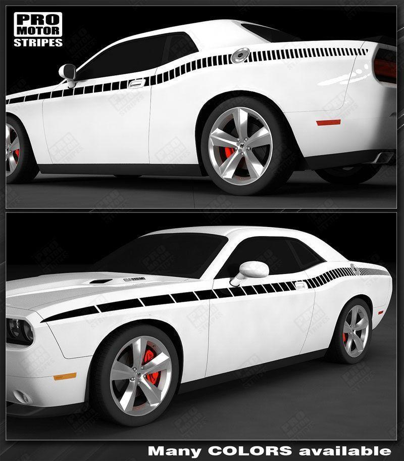 2008 2009 2010 2011 2012 2013 2014 2015 2016 2017 2018 2019 Dodge Challenger side  door Decals Stripes 152588450873-1