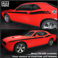 Dodge Challenger 2008-2018 New R/T Style Side Stripes Auto Decals - Pro Motor Stripes