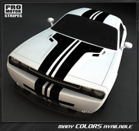 Dodge Challenger 2008-2019 Over-The-Top Center T-Stripes