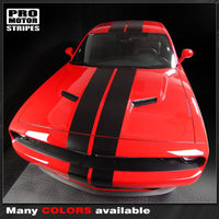 Dodge Challenger 2008-2018 Over The Top Double Stripes Auto Decals - Pro Motor Stripes