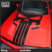 Dodge Challenger 2015-2019 Punisher Skull Hood Stripe Decal